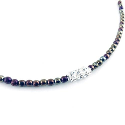 Druk crystal necklace