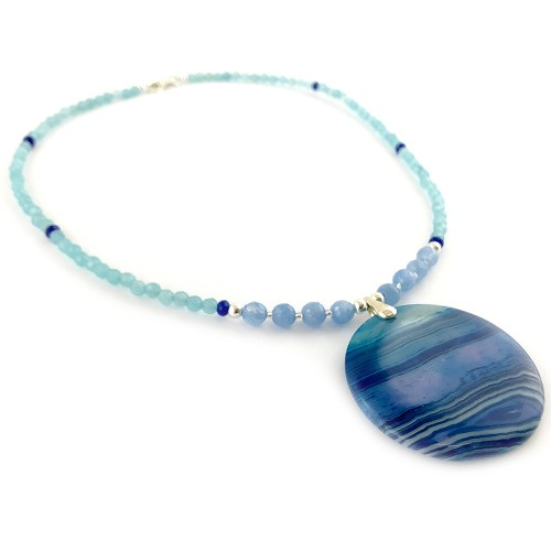 Jade and agate necklace online uk
