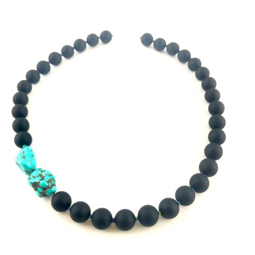onyx and turquoise necklace online uk