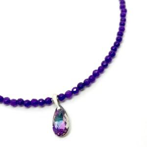 Amtheyst & Swarovski necklace online uk