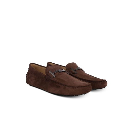 brown driving shoes - TODS
