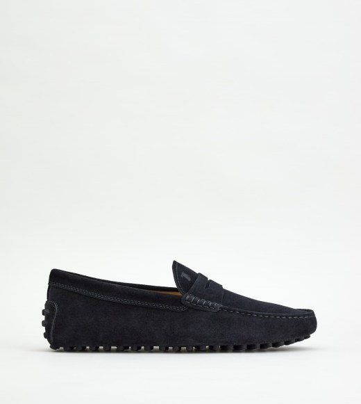 Black suede shoes with rubber sole