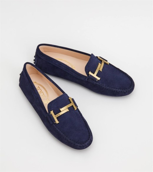 GOMMINO DRIVING SHOES IN SUEDE - BLUE