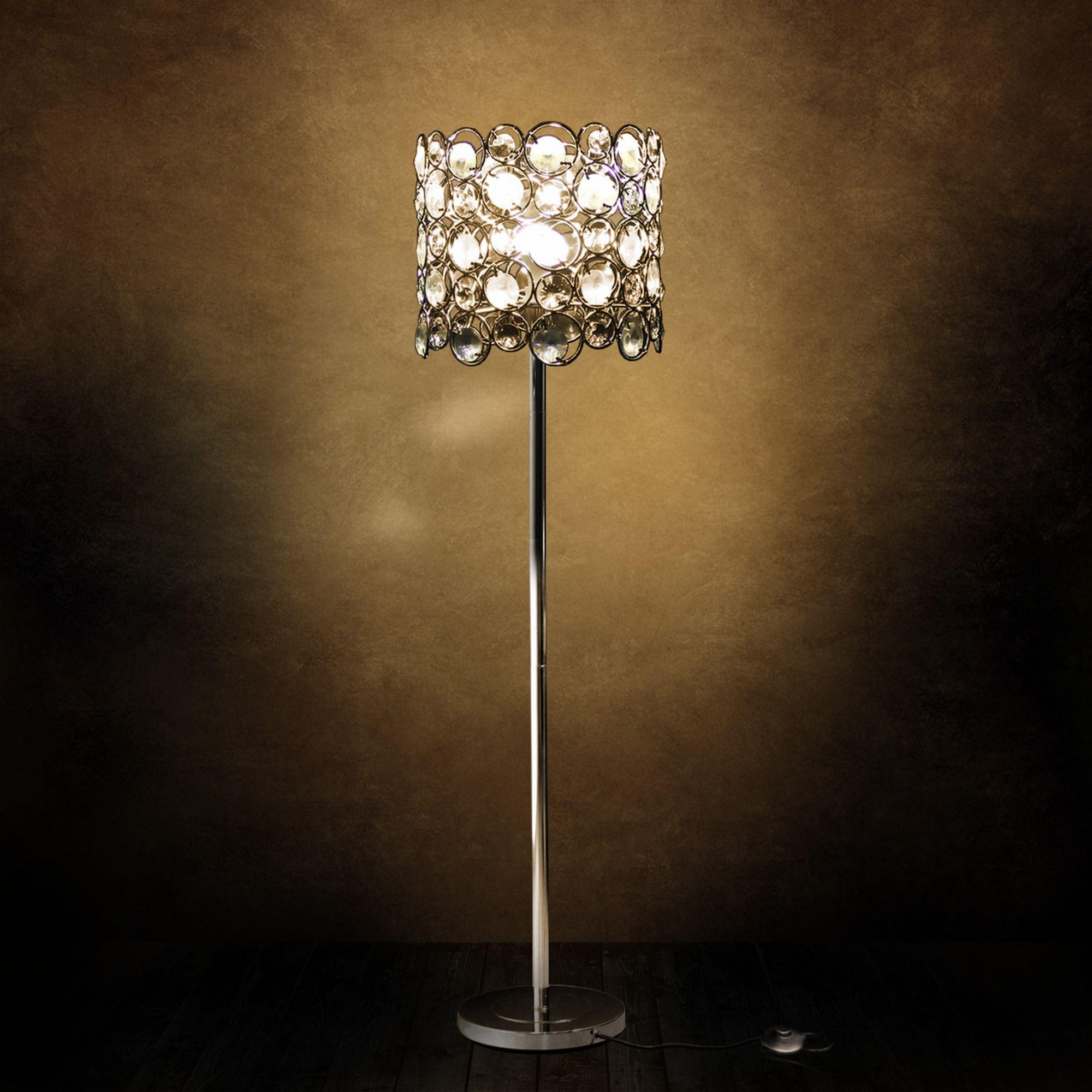 KRISTALL Stehleuchte Stehlampe Wohnzimmerlampe Leuchte Standleuchte Leuchte  eBay