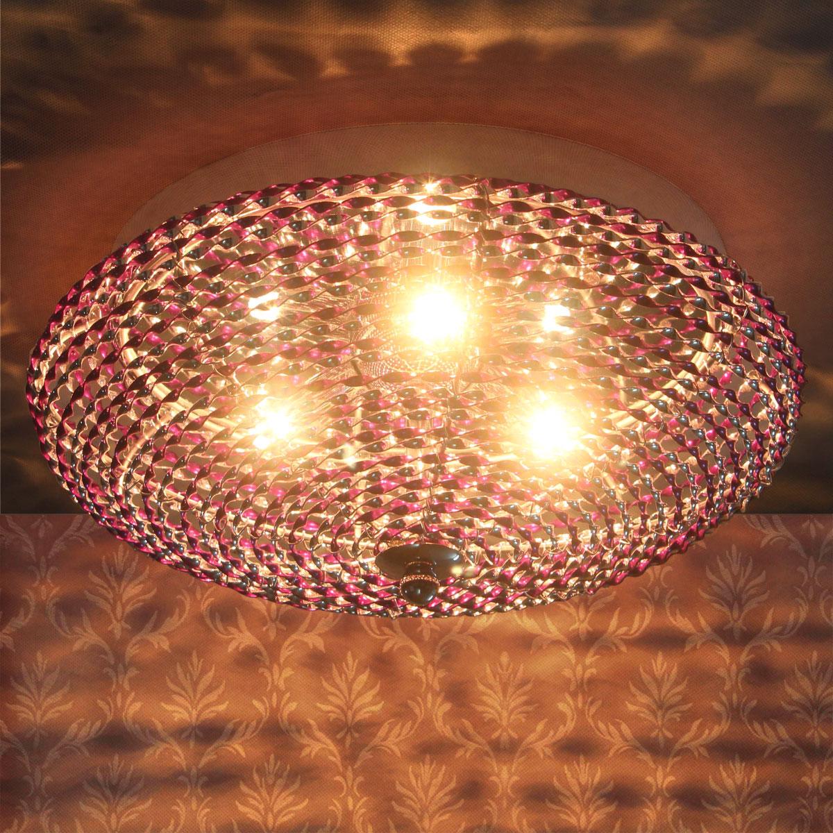 luxpro Deckenleuchte Deckenlampe Lampe Leuchte Mesh Kristall Chrom Wohnzimmer  eBay