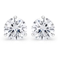 Martini Set Diamond Earrings Martini Setting Bezel Set Lab