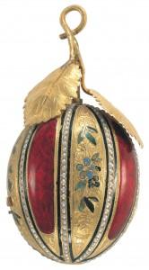"""""""Le Melon"""". Montre-pendentif avec automates et musique - Piguet & Capt, Genève - vers 1810."""