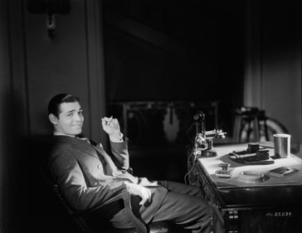 Clark Gable at his desk