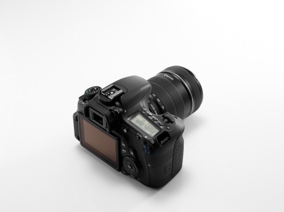 EOS 60D REVERSE TOP ANGLE w LCD LIT