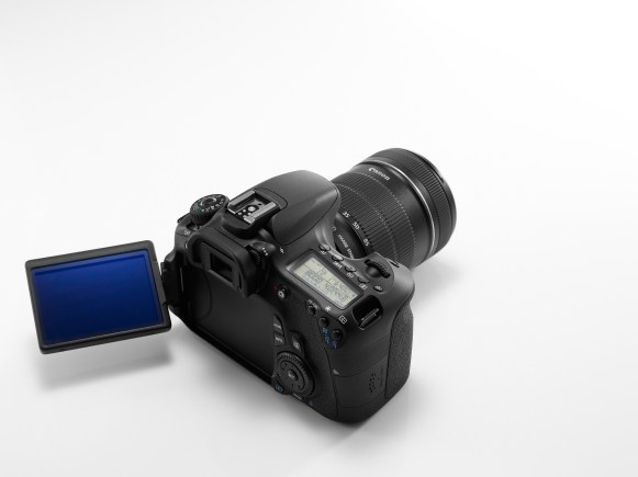 EOS 60D REVERSE TOP ANGLE w LCD TURNED