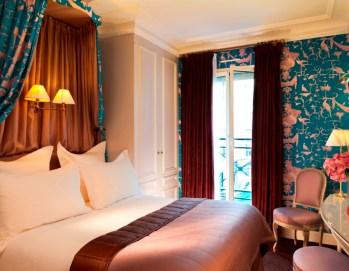 06 Hôtel de Buci- Paris -Photo © Christophe Bielsa Chambre Boudoir Bleu Céleste 2BD