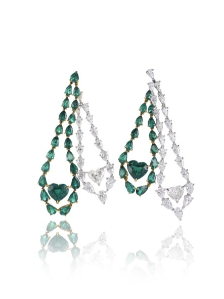 937889-9001 Hearth Emerald Earrings Red Carpet Collection petit