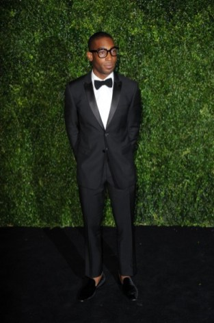 tinie tempah wearing burberry at the 58th london evening standard theatre awards in association with burberry
