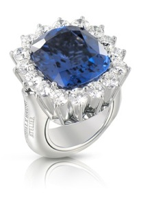 PASQUALE BRUNI ATELIER - bague en or blanc diamants blanc et tanzanite