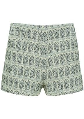 silver pattern shorts