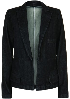 denim blazer black