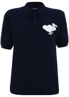 navy dodo polo shirt