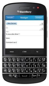 BlackBerry Q10_Front-Clavier