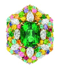 Bague Cher Dior Fascinante Emeraude Face