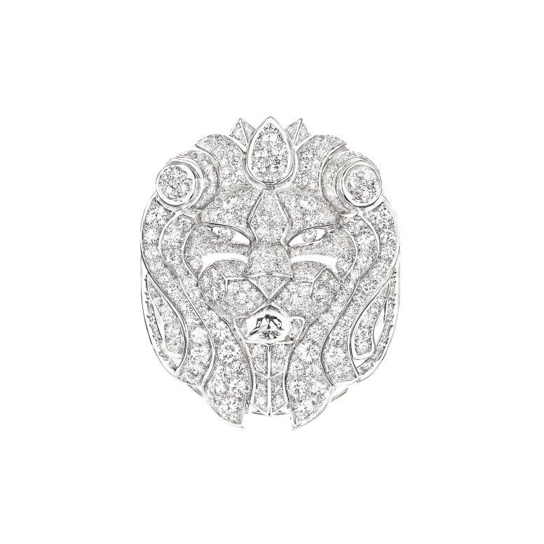 Bague Lion Imperial face J60434