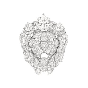 Bague Lion Royal face J60432