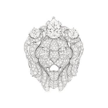 Bague Lion Royal face J60432