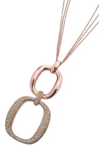 Damiani Masterpiece - D.LACE pendant in pink gold with diamonds 20056226