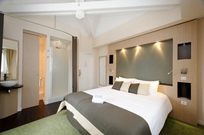Une des chambres de l'hôtel