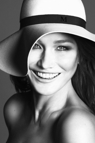 Vogue-Paris-Model-Carla-Bruni-Photographers-Mert-Marcus-COVER-DECEMBER-JANUARY-2012-DENIM-CHAMBRAY-SHIRT-SKIN-BEAUTY-HAIR-SHAG-BANGS-SARKOZY-FRANCE-MAISON-MICHEL-FLOPPY-WIDE-BRIM-HAT-RIBBON-SMILE-2