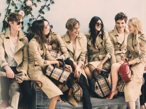 Callum Ball, Malaika Firth, Matilda Lowther, Jamie Campbell Bower, Neelam Johanl, Leo Dobson and Jean Campbell behind the scenes on the Burberry Spring_Summer 2014 campaign