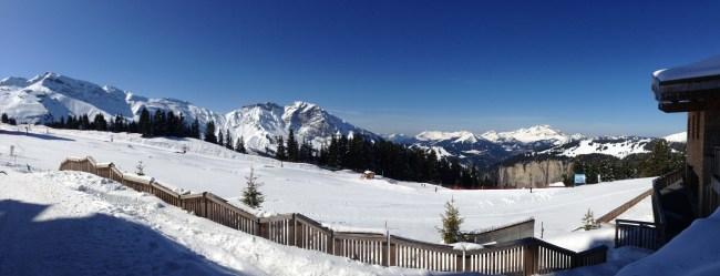 Départ du ski au pied de la résidence Amara