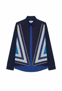 chemise-femme-manches-longues-marion-popeline-bleu-moyen-imprime-coton-suspendu-alain-figaret-an0625807145