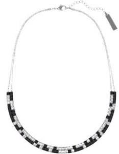Collier ras de cou Noir et blanc 179€