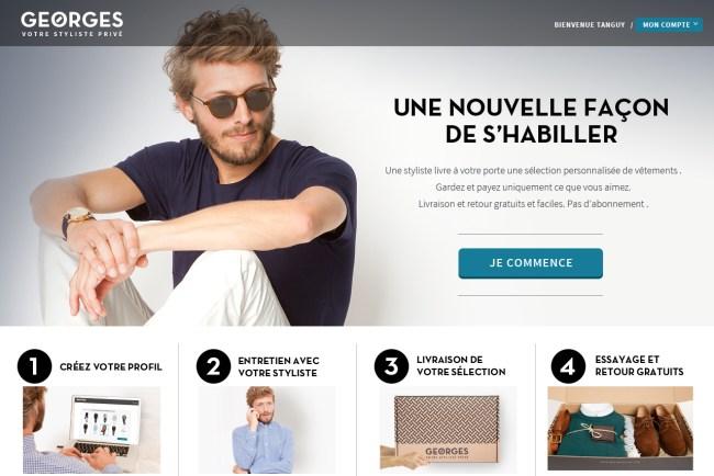 Homepage screenshot GEORGES By Menlook