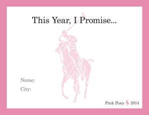 #PinkPonyPromise Card