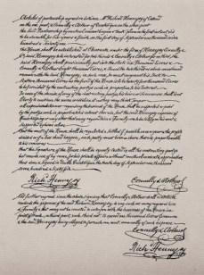 Acte de Fondation de la Société, 1765