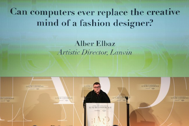 FLORENCE, ITALY - APRIL 23:  Designer Alber Elbaz attends the Conde' Nast International Luxury Conference at Palazzo Vecchio on April 23, 2015 in Florence, Italy.  (Photo by Vittorio Zunino Celotto/Getty Images for Conde' Nast International Luxury Conference) *** Local Caption *** Alber Elbaz