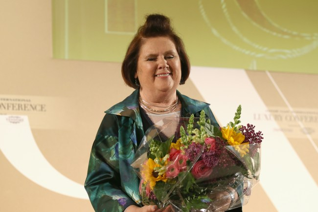 FLORENCE, ITALY - APRIL 23:  Suzy Menkes attends the Conde' Nast International Luxury Conference at Palazzo Vecchio on April 23, 2015 in Florence, Italy.  (Photo by Andreas Rentz/Getty Images for Conde' Nast International Luxury Conference) *** Local Caption *** Suzy Menkes