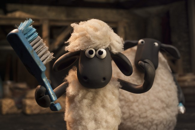 BW Shaun Le Mouton copyrigth 2014 Aardman Animations limited and studio canal S.A