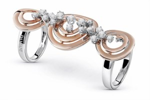 Damiani - SOPHIA LOREN pink gold ring with diamonds 20061064 (Copier)