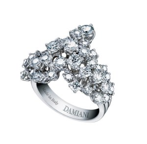 Damiani - Vulcania -white gold ring with diamonds