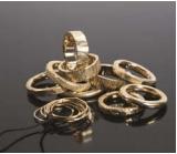 Ensemble d'anneaux, or jaune, à partir de 1140€