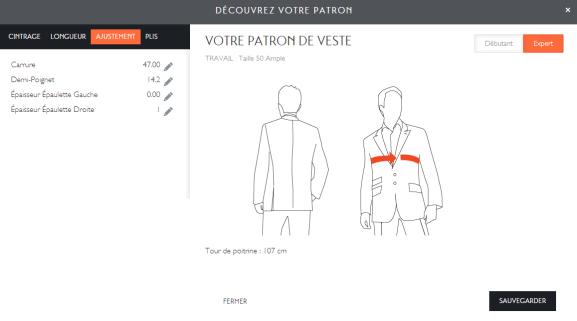 Ajustement Tailor Corner