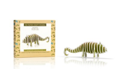 22 3D Paper Craft Model African Chameleon + box