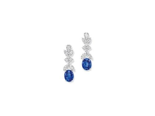Incredible Sapphire and Diamond Drop Earrings