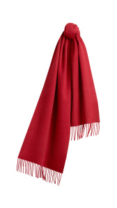 Embroidered Cashmere Scarf - Parade Red