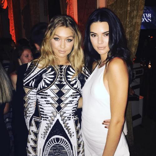 Avec Kendall en Balmain pour H&M