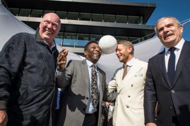 Jean-Claude Biver, Pelé, Lapo Elkann and Ricardo Guadalupe
