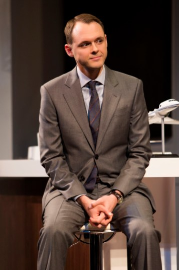 """Christopher Denham in a scene from """"China Doll"""" on Broadway at the Schoenfeld Theatre. www.ChinaDollBroadway.com. Photo by Jeremy Daniel."""