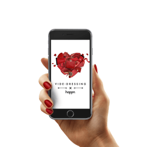Collaboration VIDEDRESSING x HAPPN : une Saint Valentin mode et connectée